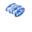 Patch, Heat Transfer, 4/PK Wht MP on Blue 10cm x 5cm