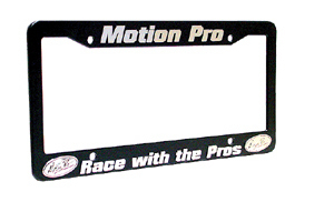 License Frame, Blk w/White Lettering