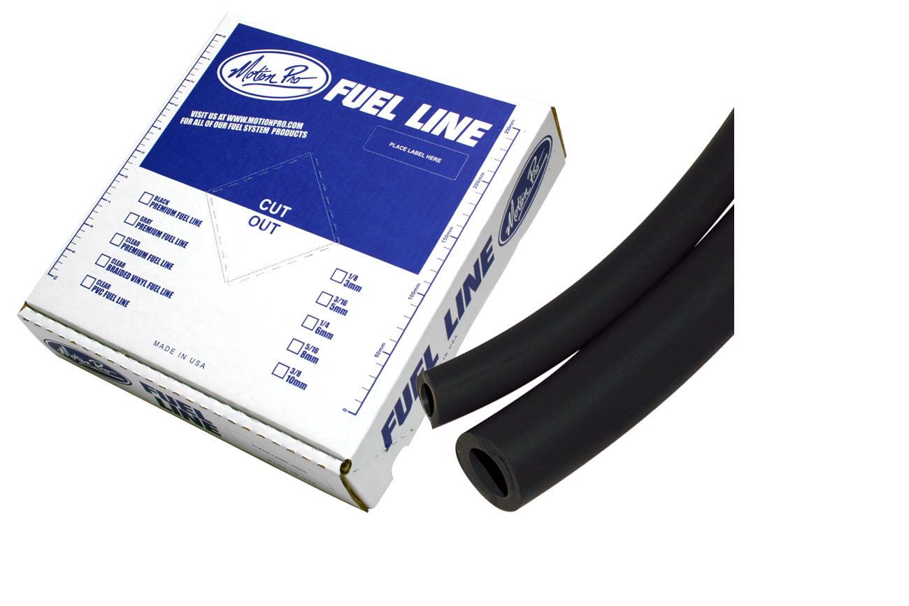 """Motion Pro Premium Fuel Line Rolls 25/' Black 3//16/"""" ID x 5//16/"""" OD 12-0040"""
