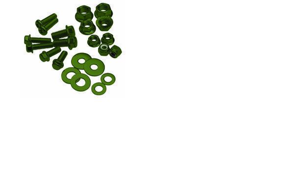 Bolt, Flange, M6XP1.0X10, Olive Green, Pk-10