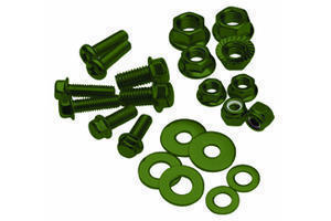 Bolt, Flange, M6XP1.0X40, Olive Green, Pk-10