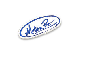 Patch Oval White, w/Blue Lettering